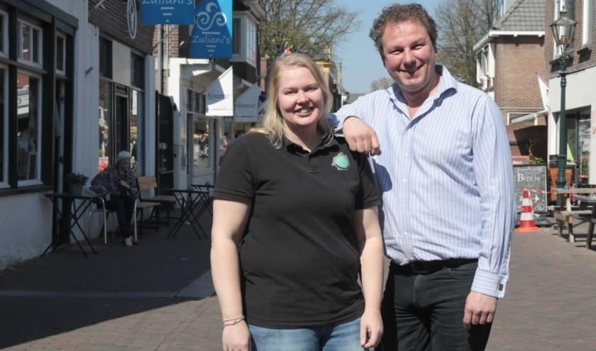 Patricia Tjepkema van 't Dierenparadijs en Marc Veele van Wijnplaza. Foto: Jan van Es