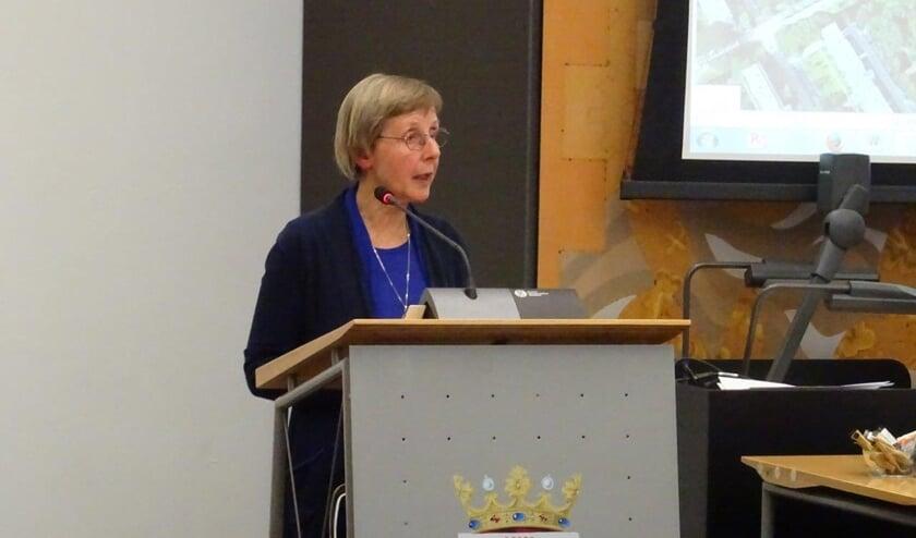 Marion Valkenburgh sprak in tijdens de raadsvergadering op dinsdag 7 mei (Foto: PR)