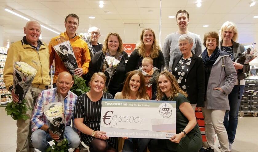 Bij Plus Sabine Zondag werden door SkippyPePijn kinderopvang, Boekhandel van Atten, Kerabijoux en Kom in de Kas bekend gemaakt hoeveel hun acties in totaal hebben opgebracht.