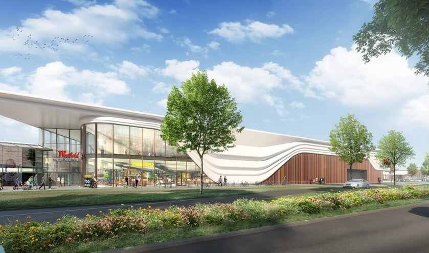 Impressie van hoe het winkelcentrum Leidsenhage eruit komt te zien als Westfielt Mall of the Netherlands (artist impression: Unibail-Rodamco-Westfield).