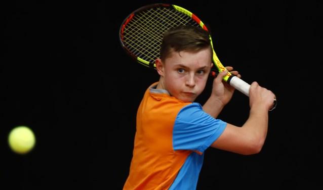 Zoetermeers tennistalent Kyvan Rietkerk is geselecteerd voor de Zomercup. Foto: pr