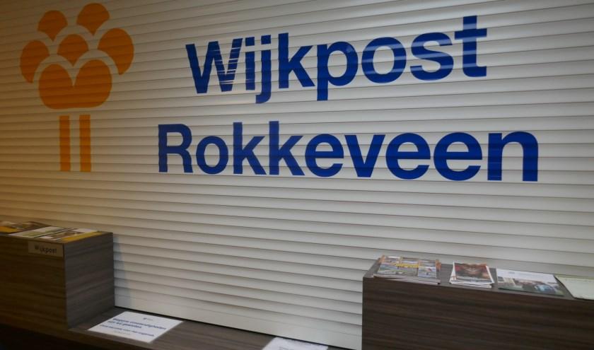 De gesloten balie van de wijkpost Rokkeveen aan Nathaliegang. Foto: Jan van Es