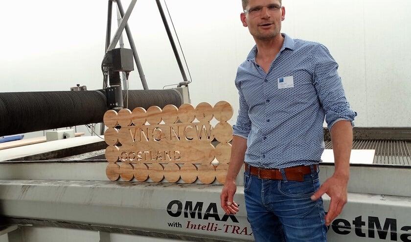 """Oscar van Buijtene: """"Ja dit kun je dus ook met watersnijden."""""""