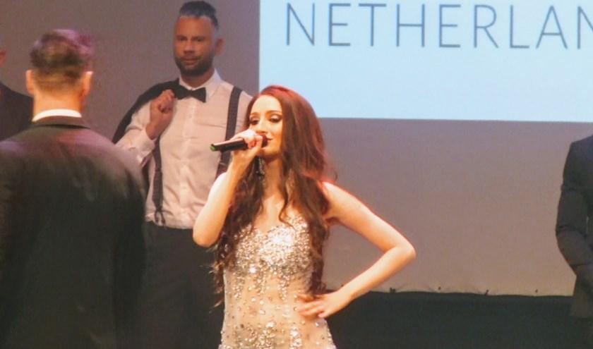 Miisz Gracie uit Zoetermeer tijdens de finale show van Mister International The Netherlands. Foto: pr