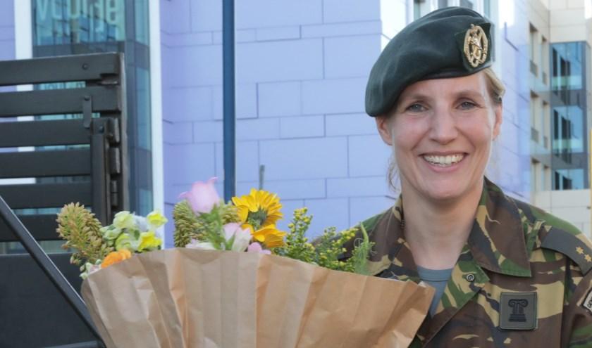 Maaike Hoogewoning, veteraan uit Zoetermeer. Foto: Jan van Es