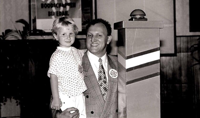 Sabine met haar vader Anton.