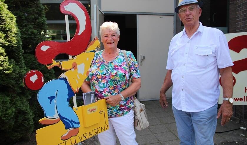 De grondleggers van de Alphacursus in Nootdorp, Mary en Jacques van Bijsterveld.