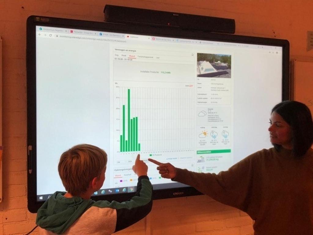 <p>Juf Artie van groep 8 van het Kindcentrum Regenboog gaf een les over duurzaamheid. Foto: pr&nbsp;</p>  © Telstar Uitgeverij B.V