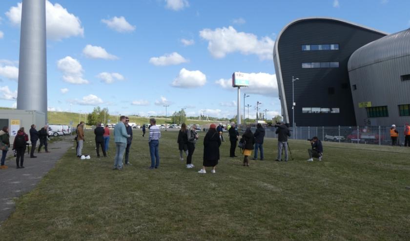 Bouwlocatie bij parkeerterrein van ADO stadion. Foto: Dick Muijs