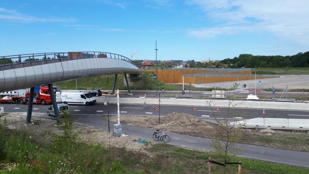 Aanleg Rotterdamsebaan nabij Laan van 's-Gravenmade. Foto: Ronald Koster  © Telstar Uitgeverij B.V