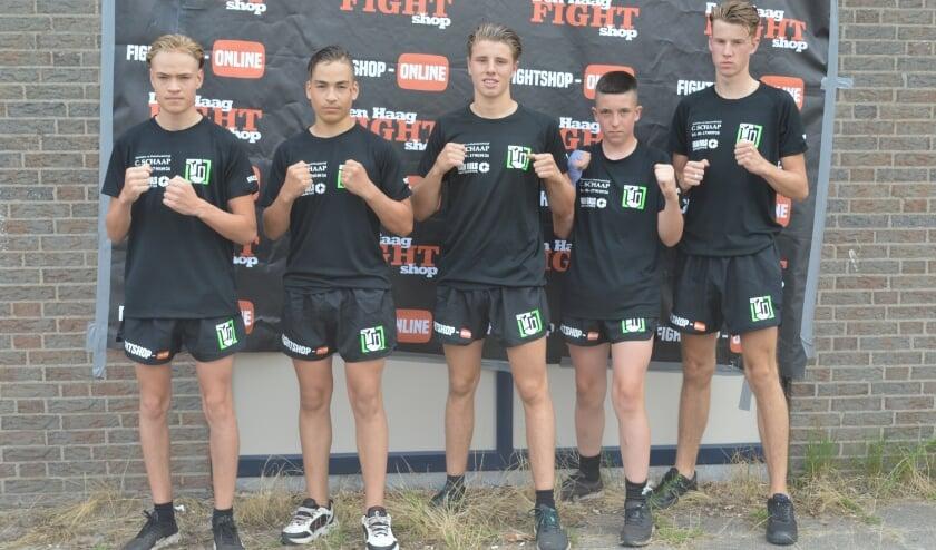 Brandon, Mike, Tony Jas, Joey (ook voorheen Team Ypenburg) en debutant Owen (v.l.n.r.). Tekst en foto: Ed Nulle
