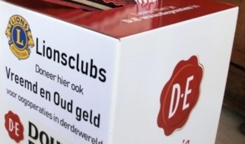 <p>De inzamelingsactie Lionsclub Ypenveen: D.E. punten en vreemd/oud geld is verlengd. Foto: pr</p>