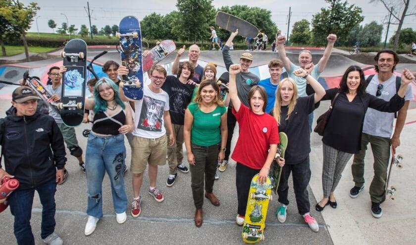 <p>Op zaterdag 10 juli is de eerste pumptrack van Den Haag geopend op skatepark Ypenburg. Foto: facebook.com/gemeente Den Haag / Frank Jansen</p>