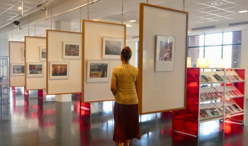 <p>Fraaie foto's op expositie over een reis door een deel van Japan in de bibliotheek Leidschenveen. Foto: Jan van Es</p>
