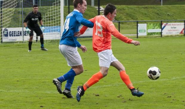 Leunen was zondag een maatje te groot voor SV United. Foto: Lotte Kamphuis.
