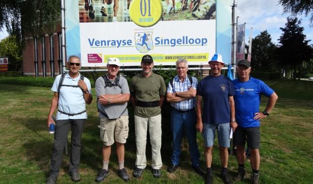 De wandelcommissie van de Singelloop: v.l.n.r. Bert van der Krabben, Antoon van der Sterren, Hans Hudales, Peter Vullings, Piet Lensen, Michel Thomassen.