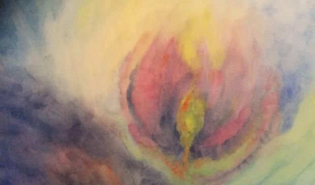 Een van de kunstwerken van Marion Geyer.