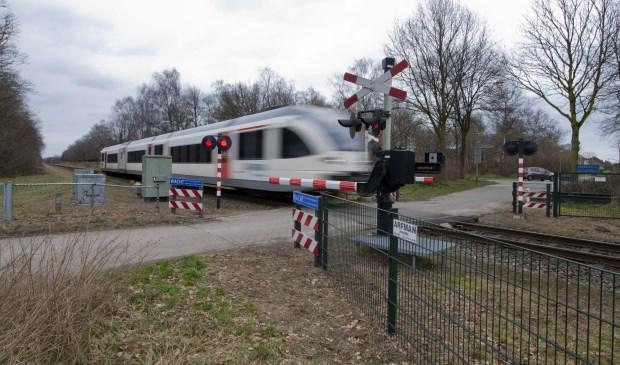 Een spoorwegovergang bij Grubbenvorst. Foto: ProRail.