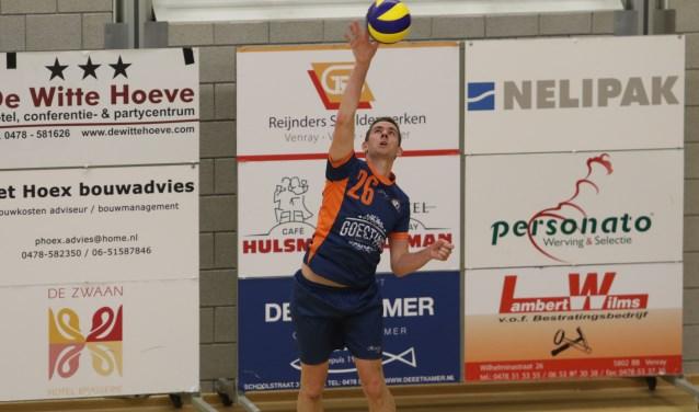 De volleyballers van ActiveRooy wonnen zaterdag in eigen huis van Hajraa 3: 4-0. Foto: archief Peel en Maas.