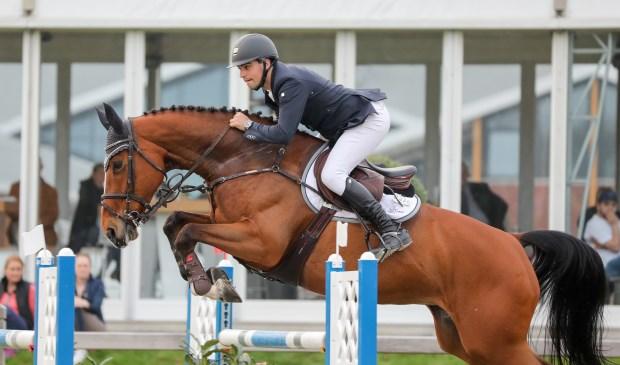 Kristian Houwen uit Wanssum was de beste in Kronenberg. Foto: Equitext.