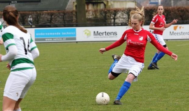 Lindie van der Steen scoorde donderdag drie keer voor Venray. Foto: archief Peel en Maas.