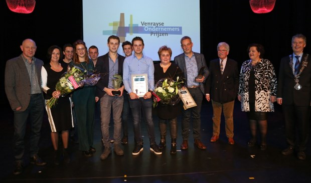 Autoverhuur De Mulder en maatschap Jenniskens-van Soest winnaars ondernemersprijzen. Foto:  Marcel  Hakvoort.