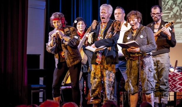 Zondag 13 januari in het Odapark: muzikale vertelling over de Tachtigjarige Oorlog onder de titel Vive le Geus! Persfoto: Foppe Schut.