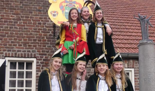 Het jeugdgezelschap van De Keieschieters in Geijsteren.