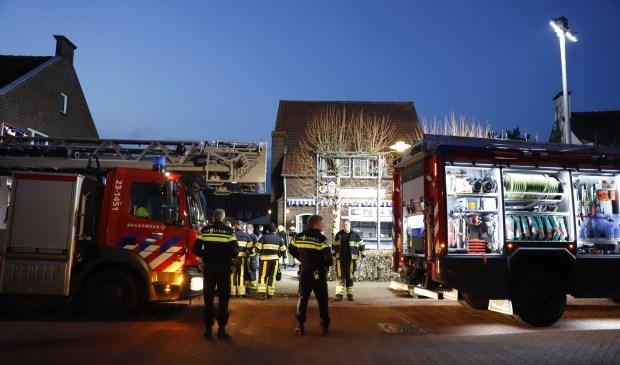 In een woning in Oostrum vatte dinsdagavond een wasdroger vlam. Foto: SK-Media