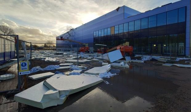 Stormschade bij nieuwbouw aan de Maasheseweg. Foto: SK-Media.