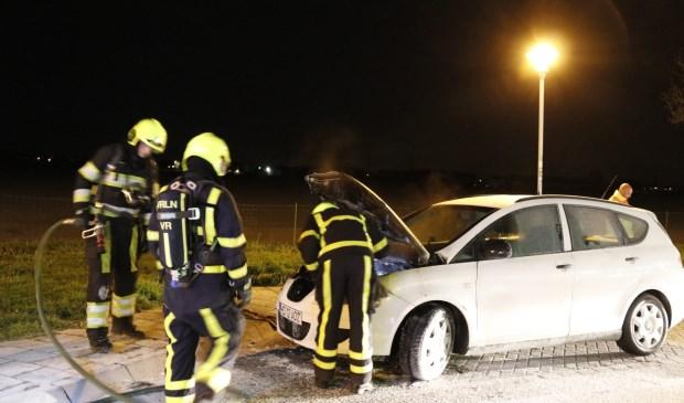 De brandweer rukte uit voor een autobrand op de A73. Foto: SK-Media.