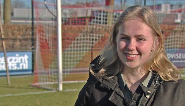 Amber van Heeswijk wordt geportretteerd in het tv-programma Spo(r)tlicht. Foto: Wim Wijnhoven.