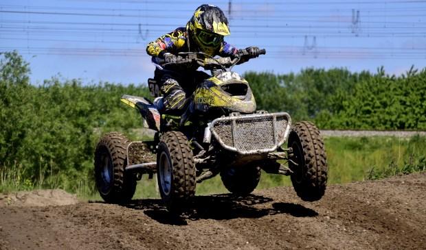 Diego Hanen (Venray) behaalde de derde plaats bij de quads standaard.  Foto gemaakt door: Maycel de Bruijn