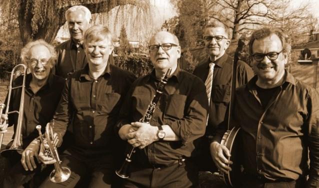 De Never Mind Jazz Band speelt op 23 juni in Geijsteren.