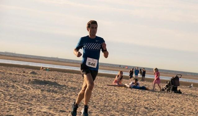 Christiaan van Beusichem kwam als eerste over de finish bij de 10 kilometer.
