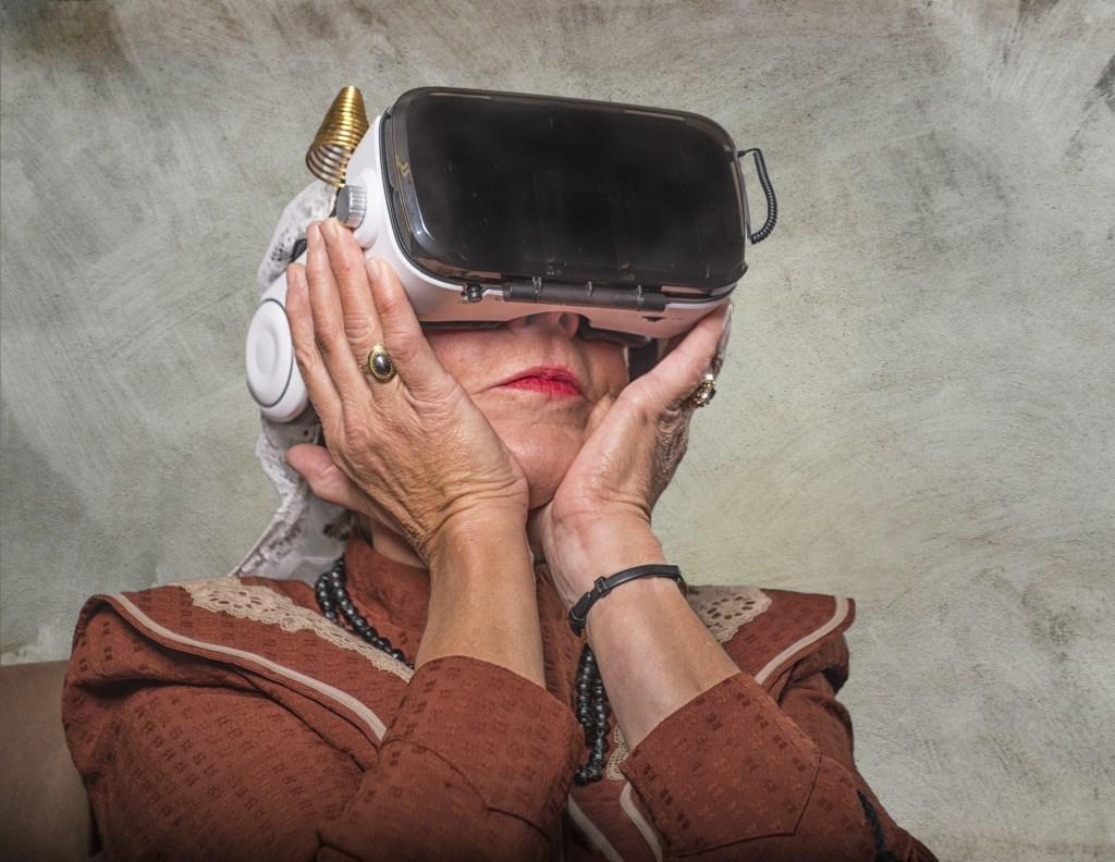 De Watersnoodramp komt dichtbij met de VR-beleving, waarmee het Streekmuseum werd genomineerd voor een Gouden Kalf. Foto: Magda Korthals  ©