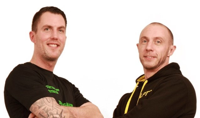 Links Jordi Hotting rechts Michael Looij. Initiatiefnemers van de Run.