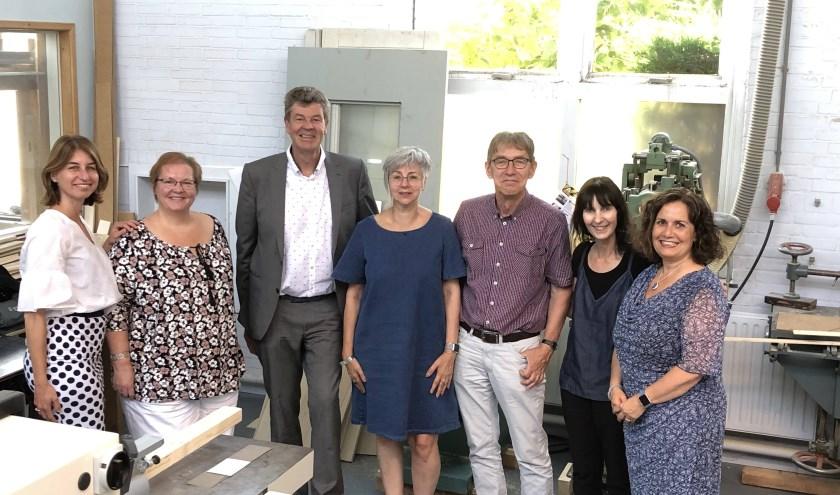 De coördinatiegroep Sterk Techniekonderwijs van RGO Middelharnis en Actief College.