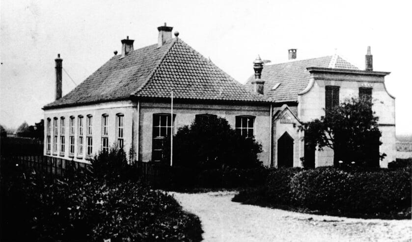 De oude school in Langstraat.