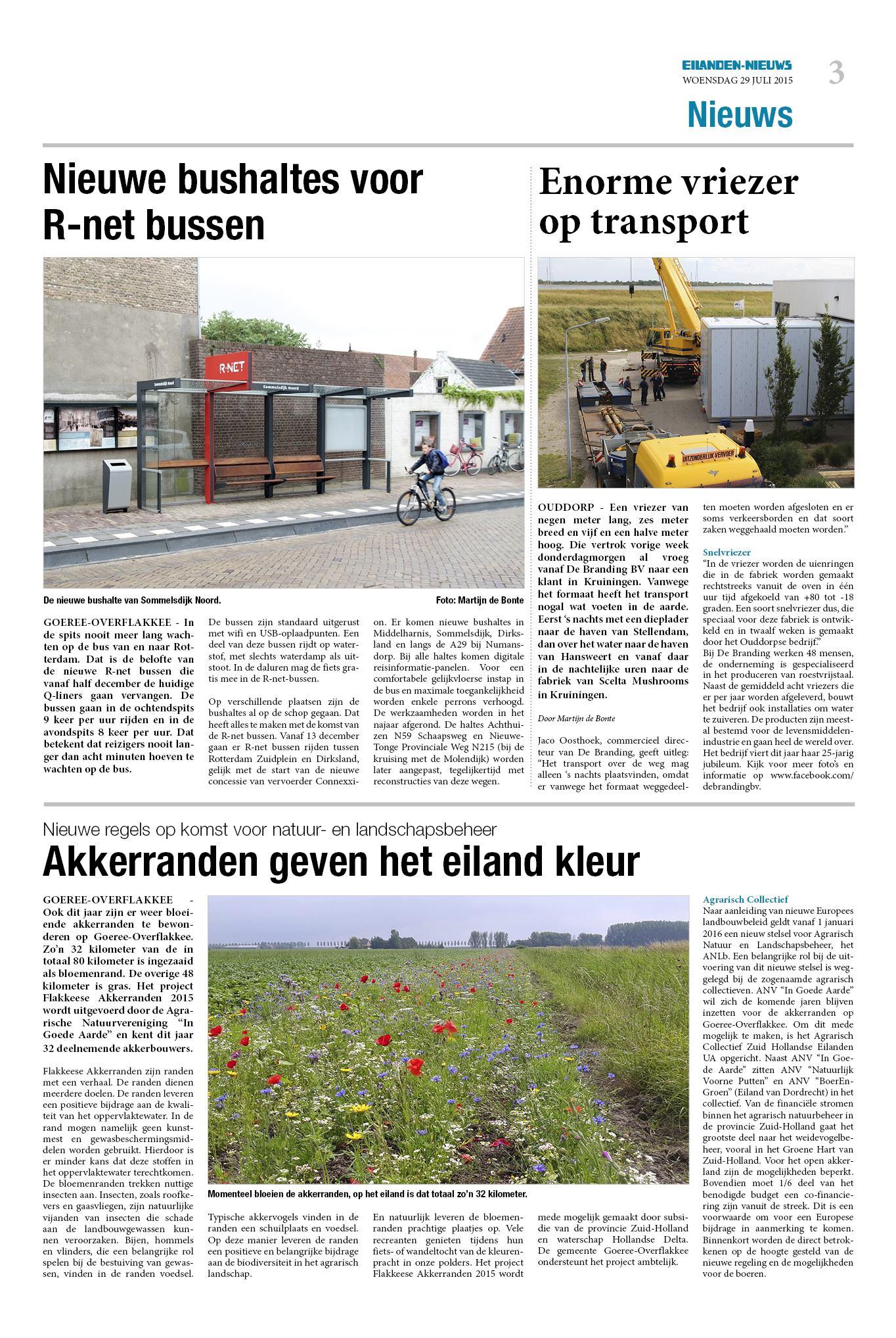 Dinsdag Eilanden Nieuws 29 Juli 2015