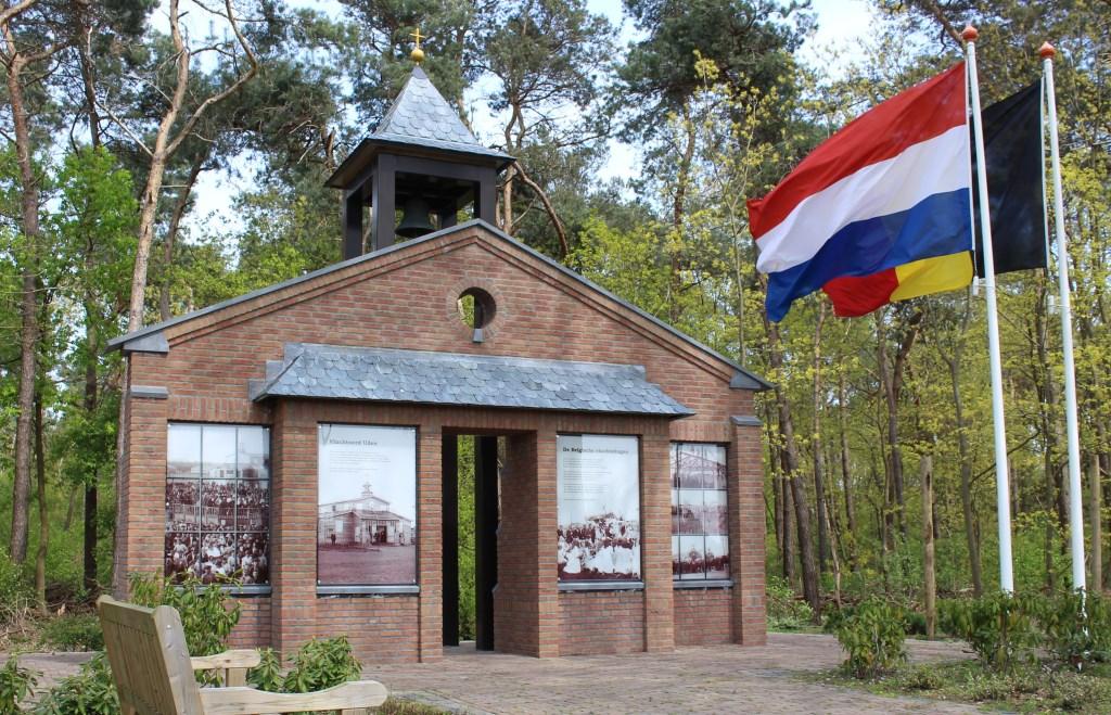 Het monument op Vluchtoord dat herinnert aan het vluchtelingenkamp in Uden Foto: Zjos Dekker © MooiUden