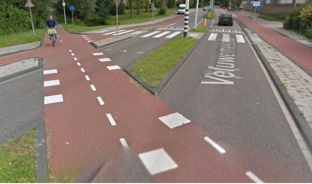 Het betreffende kruispunt. Foto: google maps.
