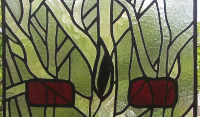 Glas-in-lood kunst in Hippolytuskerk.
