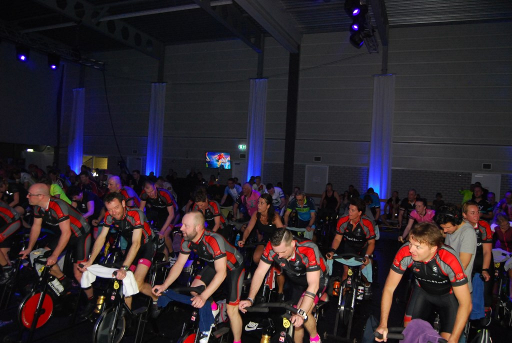 Gezamenlijk spinning is halve smart. (Foto: William Ippel) © rodi