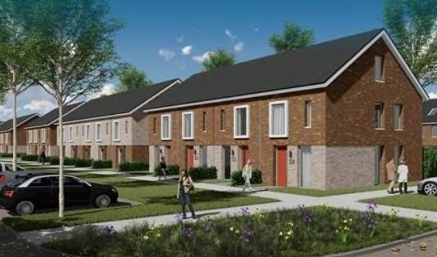 Impressie van de nieuwe sociale huurwoningen in Wijdewormer.
