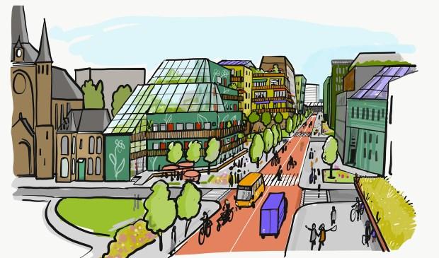 Perspectief Centrum Oost voorgelegd aan gemeenteraad. is dit de Peperstraat in 2040?