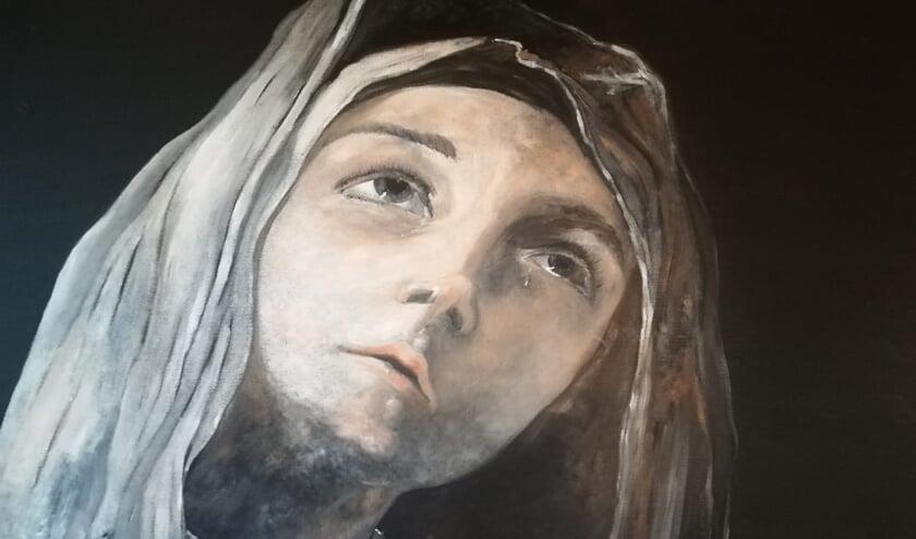 Heilige non met traan van Susan Groot.
