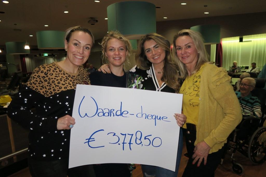 De ondernemers van de IJmondse bedrijven met het ingezamelde bedrag. Foto: Aangeleverd © rodi