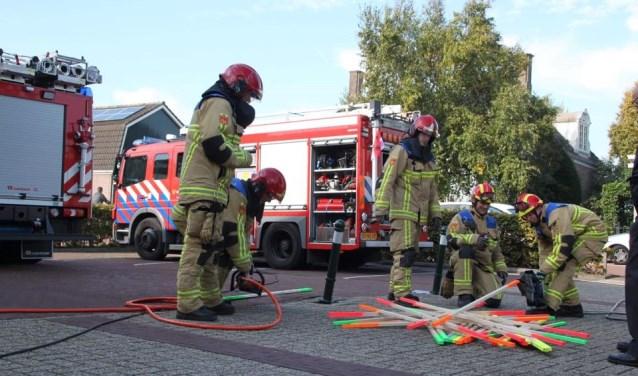 Brandweerteam in actie