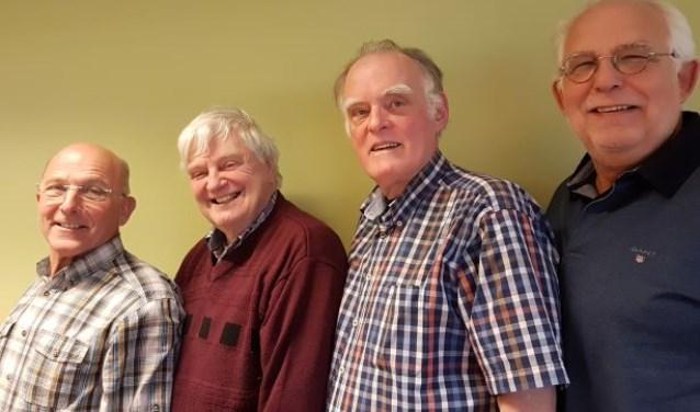 Het bestuur van ZZWW: Wim van Hilten, Jan Burger, Hans Schipper en Han Fasten.